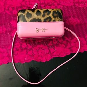Pink and leopard Jessica Simpson Clutch